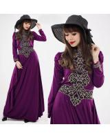 JW5006 Korea Jubah Dress Purple