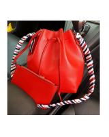 YS3781 BUCKET BAG 2 IN 1 WITH SCARF (RED)