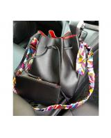 YS3781 BUCKET BAG 2 IN 1 WITH SCARF (BLACK)