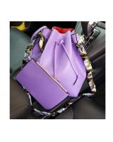 YS3781 BUCKET BAG 2 IN 1 WITH SCARF (PURPLE)