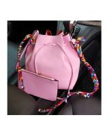 YS3781 BUCKET BAG 2 IN 1 WITH SCARF (PINK)