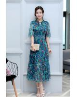 GW1300 Elegant Maxi Dress Blue