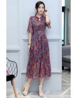 GW1300 Elegant Maxi Dress Red