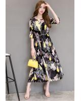 GW1301 Floral Chiffon Dress As Picture