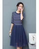 GW1302 Stylish Dress Dark Blue