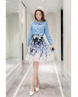 GW1304 Fashion Top and Skirt Set As Picture