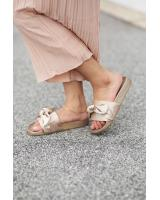 HA055 Ribbon Sandals Brown