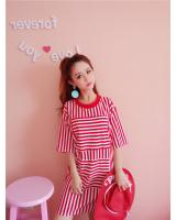 VW8452 Fashion Long Top Red