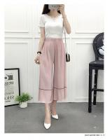 VW8708 Stylish Chiffon Pant Pink