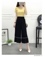 VW8708 Stylish Chiffon Pant Black