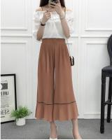 VW8708 Stylish Chiffon Pant Khaki