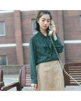 VW8723 Fashion Long Sleeves Top Green