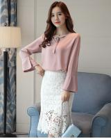 VW10105 Stylish Chiffon Top Pink