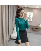 EW2263 Stylish Knit Top Dark Green