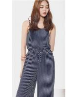 GW1546 Trendy Stripe Jumpsuit As Picture