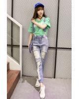 VW10260 Fashion Denim Jumpsuit Light Blue