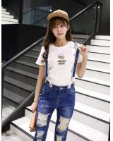 VW10260 Fashion Denim Jumpsuit Dark Blue
