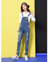 VW10177 Fashion Denim Jumpsuit Blue