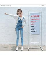 VW10185 Trendy Denim Jumpsuit Blue