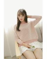 VW10411 Fashion Stripe Top Pink