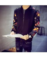 SNW30004 Flower Long Sleeve Jacket Black