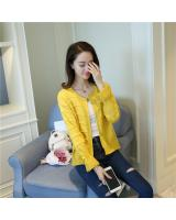 VW10437 Stylish Knit Cardigan Yellow