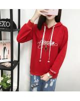 GW1775 Sporty Hooded Top Red
