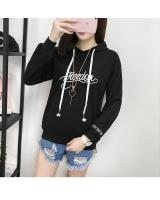 GW1775 Sporty Hooded Top Black
