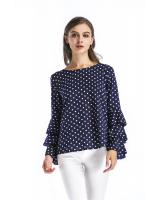 GW1780 Sweet Polka Dot Top Blue