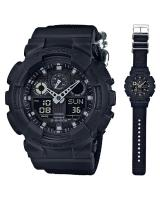 GT307 CASIO G-SHOCK GA-100BBN-1A Analog Digital Watch | Cordura Band