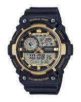 GT319 CASIO STANDARD AEQ-200W-9AV Analog Digital Watch | World Map
