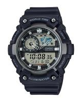 GT321 CASIO STANDARD AEQ-200W-1AV Analog Digital Watch | World Map