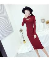 EW20394 Stylish Hugging Dress Red