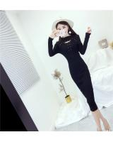 EW20394 Stylish Hugging Dress Black