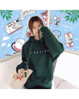 VW12153 Fashion Hooded Top Green