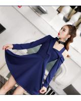 GW2103 Stylish Dress Dark Blue
