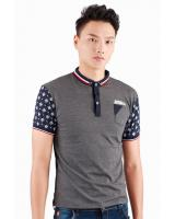 QA-309 Men Fashion Collar Shirt Grey