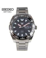 Seiko Watch 5 Sports Silver Stainless-Steel Case Stainless-Steel Bracelet Mens Japan SRP743K1