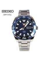 SEIKO AUTOMATIC MENS BLUE DIAL STAINLESS STEEL WATCH SRP747K1