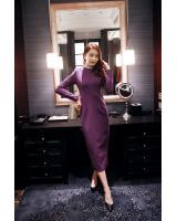 BM70113 Fashion Dress Purple