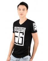 QA-322 Men Fashion T Shirt Black