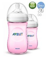 BO6005 Phillip Avent Natural Bottle (9oz / 260ml) Twin Pack Pink