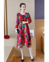 VW12208 Classic Floral Cheongsam Red