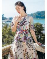 BM70254 Embroidery Maxi Dress As Picture