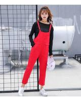 GW2201 Charming Denim Jumpsuit Red