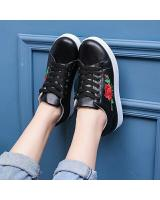 YK012 FLOWER SNEAKERS (BLACK)