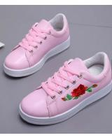YK012 FLOWERS SNEAKERS (ROSE)