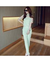 BM70276 Korea Fashion Jumpsuit Green