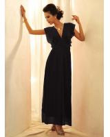 BM70277 Charming Chiffon Jumpsuit Black