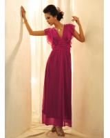 BM70277 Charming Chiffon Jumpsuit Purple
